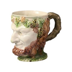 Early Staffordshire Pottery Ralph Wood Bacchus Tankard, Late 18th Century