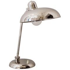 Drehbare Art Deco Nickel Tischlampe 1930er Jahre