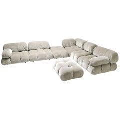 Velvet Sectional Sofa Model 'Camaleonda' by Mario Bellini