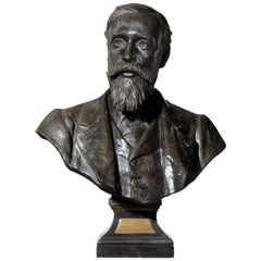 Late Victorian Bronze Study of Dr Stanley Armitage by Sir Thomas Brock