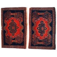 Handmade Antique Pair of Senneh Style Rugs, 1900s, 1C359