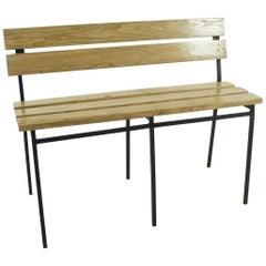 1960s Vintage Oak Bench