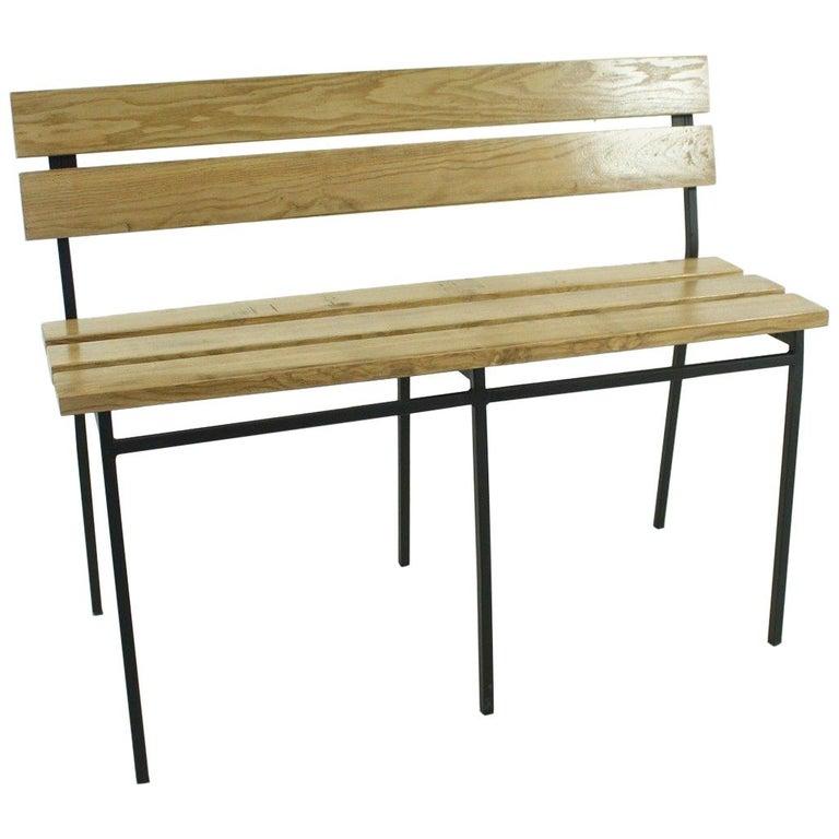 1960s Vintage Oak Bench 1