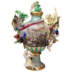SOLD Meissen Vase Four Elements the Fire by Johann Joachim Kaendler Model 321