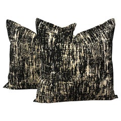 One Kelly Wearstler Square Down Fill Pillow in Whisk Shadow Custom Options 19x19