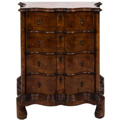 Early 20th Century Georgian Style Serpentine Chest of Drawers