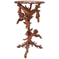 Italian Venetian Carved Fruitwood Pedestal