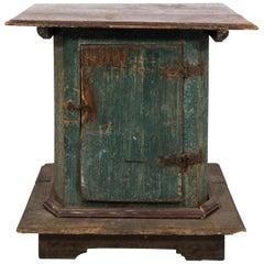 Painted Pine One Door Pedestal Cabinet, circa 1900s
