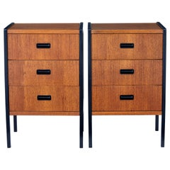 Pair of Mid-20th Century Scandinavian Teak Bedside Chests by Bodafors