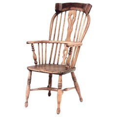 English Country Stripped Pine Windsor Armchair