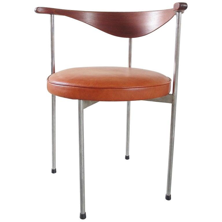Scandinavian Desk Side Chair By Frederik Sieck For Fritz Hansen Denmark 1964