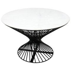 Mid-Century Modern Iron Round Table