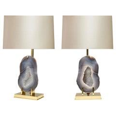 Ein Paar Achat Lampen von Phoenix