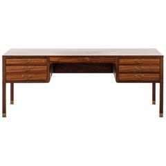 Ole Wanscher Freestanding Desk by Cabinetmaker A.J. Iversen in Denmark