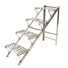Contemporary Iron Steps or Display Shelves