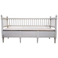 Swedish Convertible Bench Gustavian, circa 1880