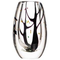 Vicke Lindstrand Glass Vase Autumn Produced by Kosta in Sweden
