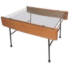 20th Century, French Extensible Glass Coffee Table, 1950s