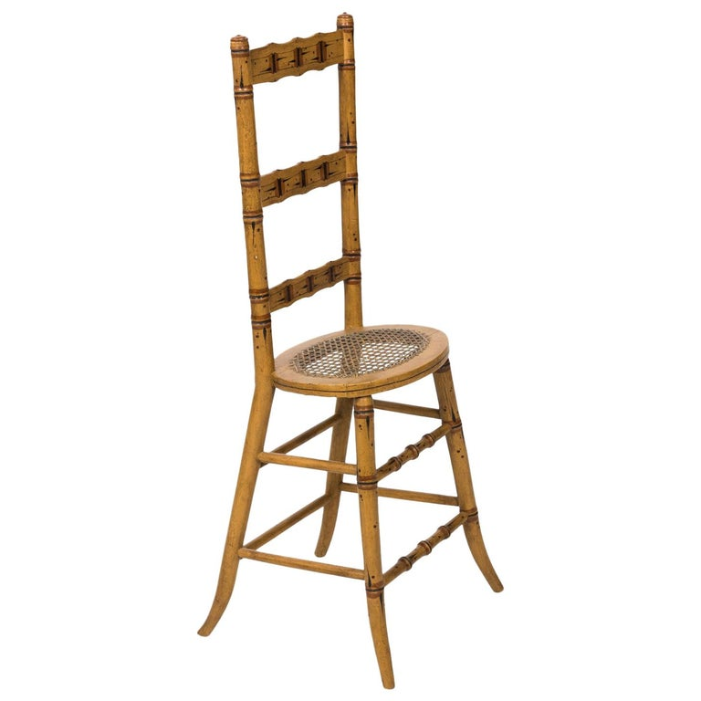 Late 19th Century Faux Bamboo Child's Chair For Sale