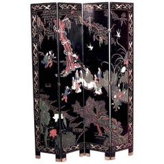 Chinese Coromandel 4-Fold Screen