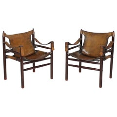 Vintage Safari Armchair in the Manner of Arne Norell 1970s Hungary
