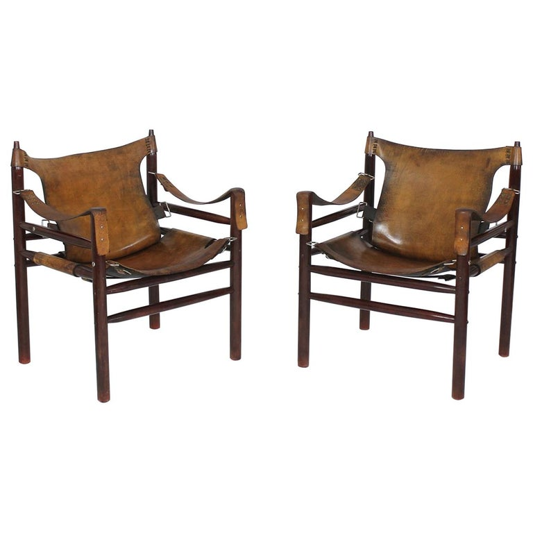Vintage Safari Armchair in the Manner of Arne Norell 1970s Hungary For Sale