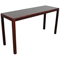 Midcentury Danish Modern Vejle Stole Parquet Top Rosewood Console Table