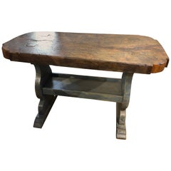 French Provincial Rustic Trestle Table