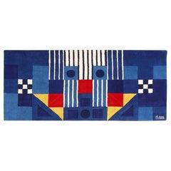 Blue Vintage George Earl Ortman Art Rug