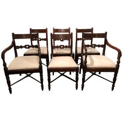 19th Century Set of Six Regency Mahogany Dining Chairs