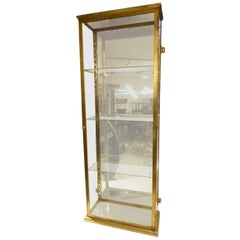 Early 20th Century French Brass Display Cabinet