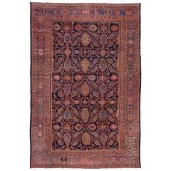 Antique Oversized Persian Malayer Carpet