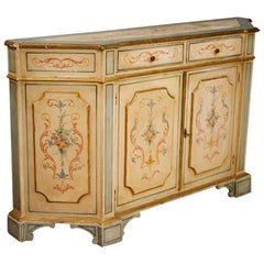 20th Century Painted And Gilded Wood Venetian Sideboard, 1960