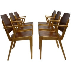 Mid-Century Modern Vintage Dining Room Chairs by Franz Schuster 1959 Set of Six