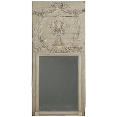 Antique French Painted Mirror in Original Condition, 1stdibs New York