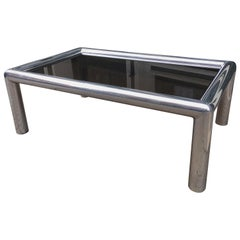 John Mascheroni for Vecta Rectangular Polished Aluminum Coffee Table