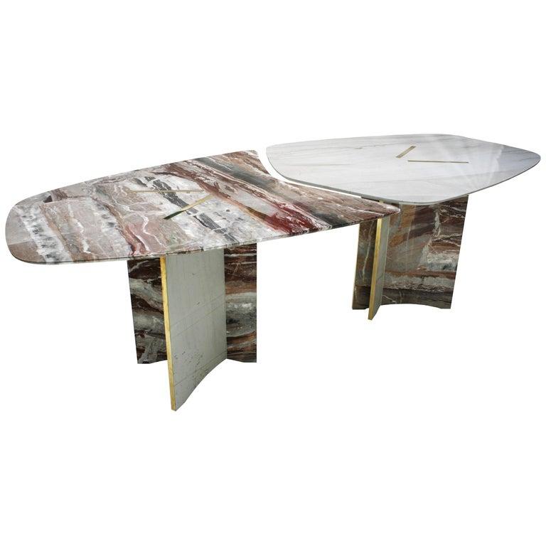 Italian marble table, new, offered by L.A. Studio