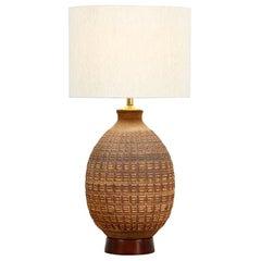 "Bob Kinzie Earthenware ""N-Series"" Ceramic Table Lamp for Affiliated Craftsmen"