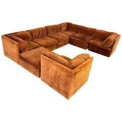Eight-Piece Modular Sofa by Milo Baughman for Thayer Coggin