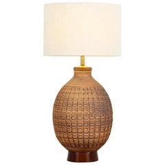 "California Modern ""N-Series"" Ceramic Table Lamp by Bob Kinzie"