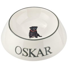 Modern Personalized Hand Painted Porcelain Dog Bowl Sofina Boutique Kitzbuehel