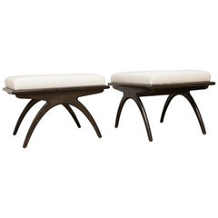 Pair of Parabolic Benches by Samuel Greg