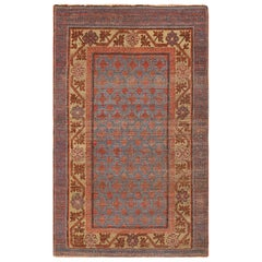 Small Antique Khotan Rug from East Turkestan