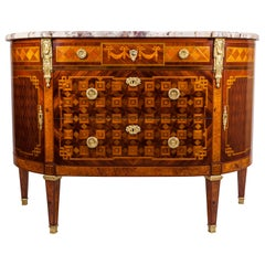 19th Century Louis XVI Style Inlaid French Dresser