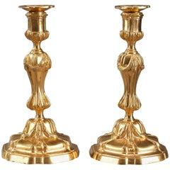 18th Century Gilt Bronze Table Candelabra Centrepieces