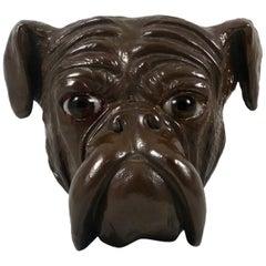 Bretby Terracotta Bust of a Bull Dog, circa 1890