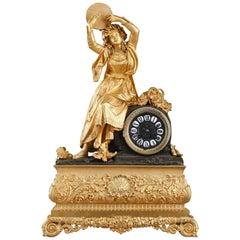 Louis-Philippe Ormolu Clock, Esmeralda or Dancer with a Tambourine