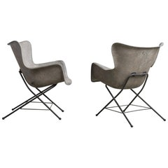 Pair of Modern Fiberglass Chairs, America, 20th Century
