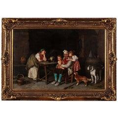 """Federico Mazzotta 19th Century Oil on Canvas """"Grandfather"""""""
