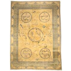Beige Vintage Chinese Carpet